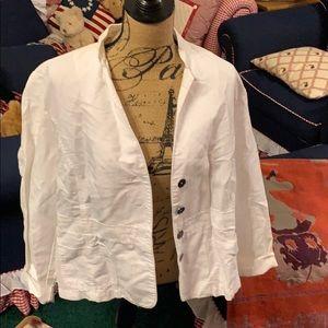 Chico's White Jacket Size 3 (16/18 US)